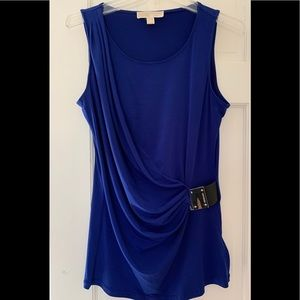 Michael Kors Royal Blue Sleeveless Top Buckle Med